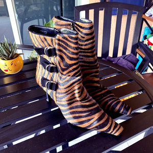 LORD & TAYLOR TIGER ANKLE BOOTIES FÜR 10M NWOT